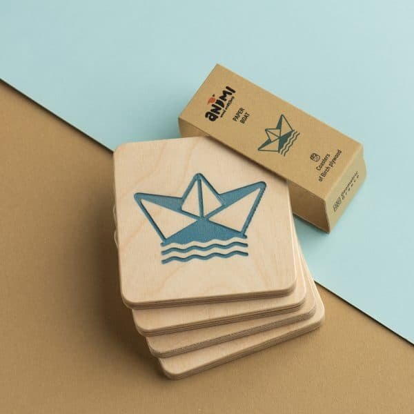 coasters paper boat